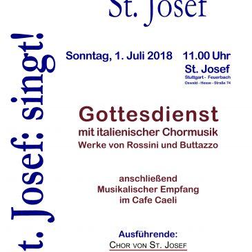 St. Josef: singt!