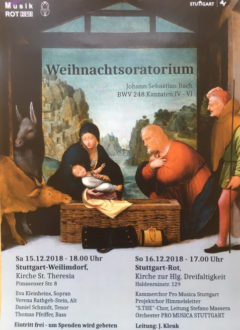 Weihnachtsoratorium, J.S. Bach @ Kirche St. Theresia | Stuttgart | Baden-Württemberg | Deutschland