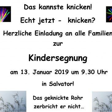 Gottesdienst mit Kindersegnung in Salvator