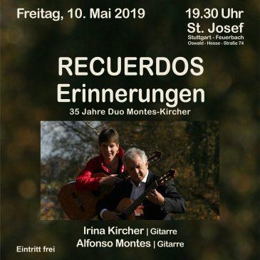Gitarrenduo Montes-Kircher zu Gast in St. Josef