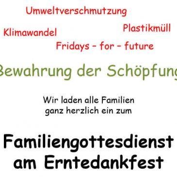 Familiengottesdienst am Erntedankfest