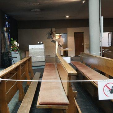 Gemeindegefühl mit Abstand – Erster Gottesdienst nach Shutdown in Salvator