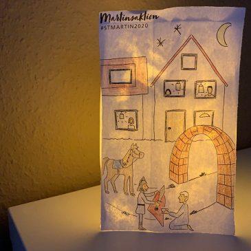 #stmartin2020: Lichtertüten-Aktion und Andacht zu St. Martin in Feuerbach