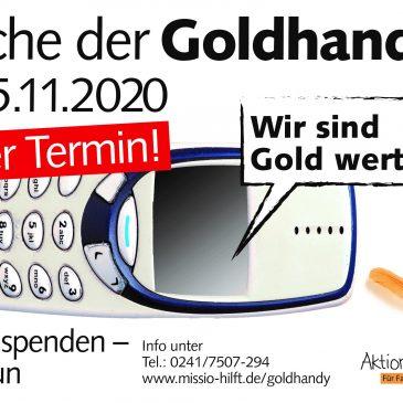 Woche der Goldhandys: Alte Handys für einen guten Zweck